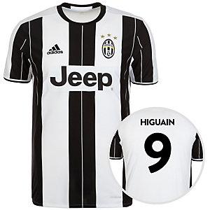 adidas Juventus Turin 16/17 Heim Higuaín Fußballtrikot Herren weiß / schwarz