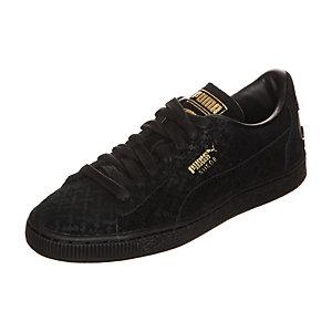 PUMA Suede Batman Sneaker Kinder schwarz / gold