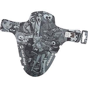 riesel design schlamm:PE Stickerbomb Ultra Black Schutzblech schwarz/grau