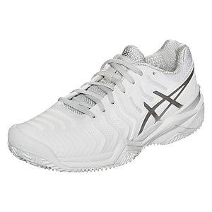 ASICS Gel-Resolution 7 Clay Tennisschuhe Damen weiß / silber