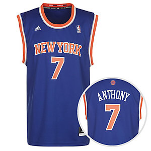 adidas NY Knicks Replica Anthony Basketball Trikot Herren blau