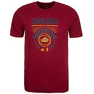 adidas Cleveland Cavaliers GFX Basketball Shirt Herren weinrot / blau