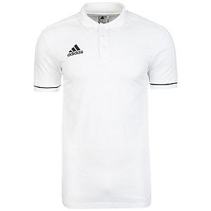 adidas Tiro 17 Poloshirt Herren weiß / schwarz