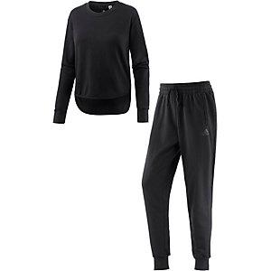 adidas CHILL OUT Trainingsanzug Damen schwarz