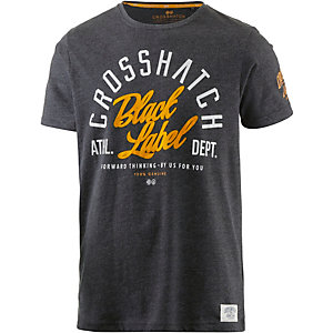 Crosshatch T-Shirt Herren anthrazit melange