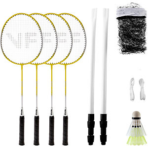 Victor BM Set Family; 795/0/1 Badminton Set gelb/silberfarben