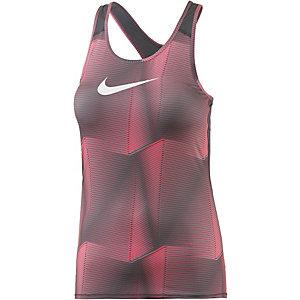 Nike Pro Dry Fit Pyramid Tanktop Damen nepnpink/grau