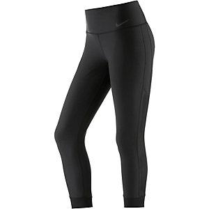 Nike Power Legend Crop Veneer Tights Damen schwarz