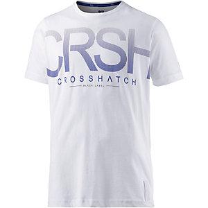 Crosshatch T-Shirt Herren weiß