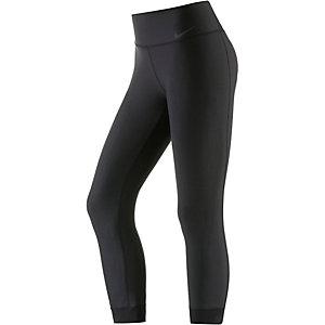 Nike Power Legend Crop Lauftights Damen schwarz