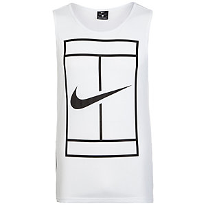 Nike Baseline Tennisshirt Herren weiß / schwarz