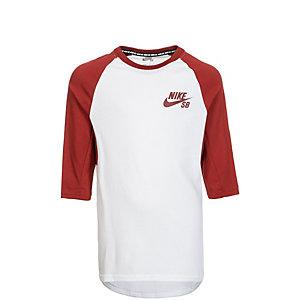 Nike Dry Top Funktionsshirt Kinder weiß / dunkelrot