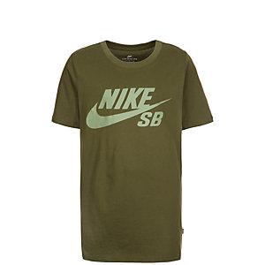 Nike SB Logo Funktionsshirt Kinder oliv