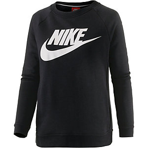 Nike Sweatshirt Damen schwarz/weiß