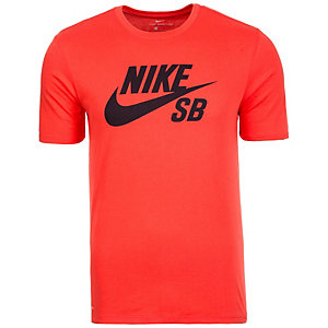 Nike Logo T-Shirt Herren orange / dunkelblau