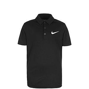 Nike Dry Tennis Polo Jungen schwarz / weiß