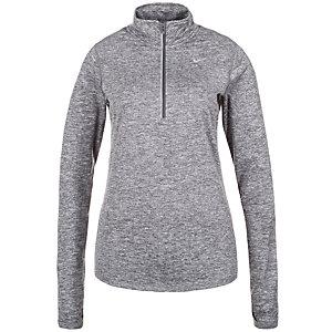 Nike Element Half-Zip Laufshirt Damen grau / silber