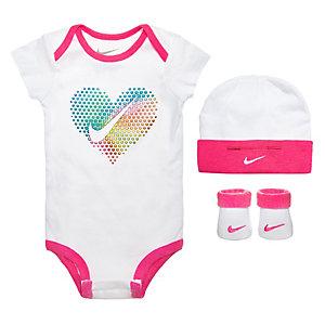 Nike Pop Heart Baby Body Mädchen weiß / pink