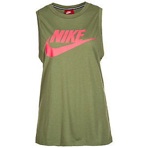 Nike Essential Tanktop Damen grün / korall