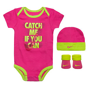 Nike Catch Me If You Can Baby Body Mädchen pink / lime