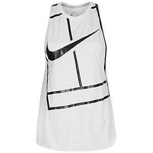 Nike Court Baseline Funktionstank Damen weiß / schwarz
