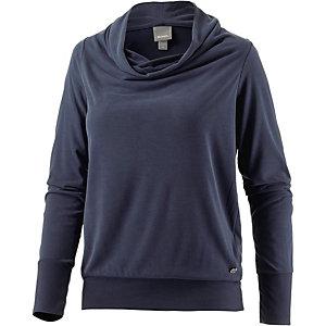 Bench Langarmshirt Damen dunkelblau