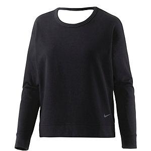 Nike Dry Versa Open Langarmshirt Damen schwarz