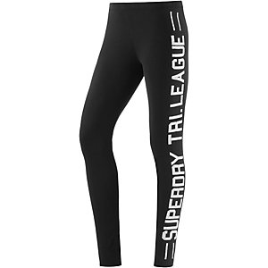 Superdry Leggings Damen schwarz