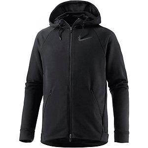 Nike Dry Hyper Funktionsjacke Herren schwarz