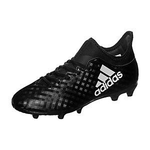adidas X 16.3 Chequered Black Fußballschuhe Kinder schwarz / weiß
