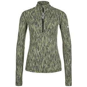 Nike Pro Hyperwarm Funktionsshirt Damen grün / schwarz
