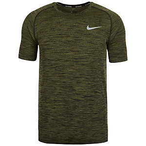 Nike Dri-FIT Knit Laufshirt Herren grün / schwarz