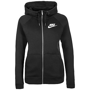 Nike Rally Sweatjacke Damen schwarz / weiß