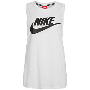 Nike Essential Tanktop Damen weiß / schwarz