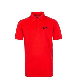 Nike Dry Tennis Polo Kinder rot / schwarz