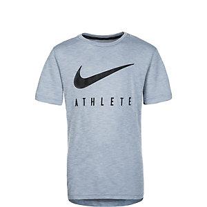 Nike Dry Hyper GFX Funktionsshirt Kinder grau / schwarz