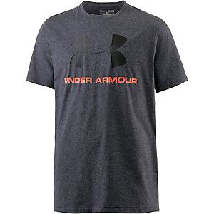 Under Armour HeatGear Sportstyle Logo Funktionsshirt Herren graumelange