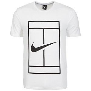 Nike Court Dry Tennisshirt Herren weiß / schwarz