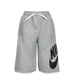 Nike French Terry Alumni Shorts Kinder grau / weiß