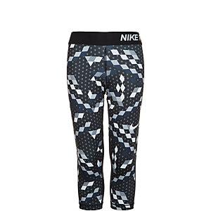 Nike Pro Dry Capri Tights Kinder schwarz / grau