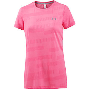 Under Armour Threadborne Train Jacquard Funktionsshirt Damen pink