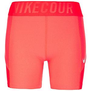 Nike Court Power Tennisshorts Damen neonrot