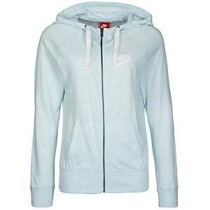 Nike Gym Vintage Sweatjacke Damen hellblau / weiß