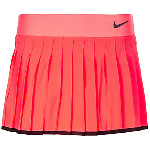 Nike Victory Tennisrock Damen neonrot / schwarz