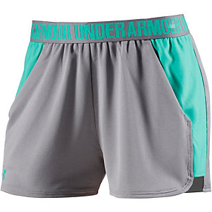 Under Armour Play Up Funktionsshorts Damen hellgrau/türkis