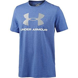 Under Armour HeatGear Sportstyle Logo Funktionsshirt Herren blau melange