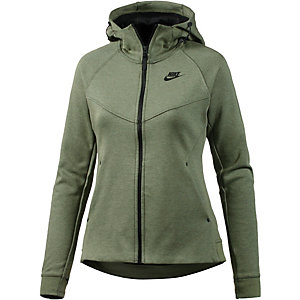 nike tech fleece kapuzenjacke damen khaki im online shop. Black Bedroom Furniture Sets. Home Design Ideas