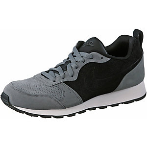 Nike MD Runner 2 Leather Prem Sneaker Herren grau/schwarz