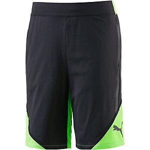 PUMA Bermudas Jungen schwarz/grün