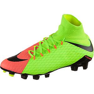 Nike HYPERVENOM PHATAL III FG Fußballschuhe Herren neongrün/orange